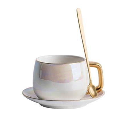 Lekoch Aurora Perlglasur Bone China Teetasse Untertassen Set