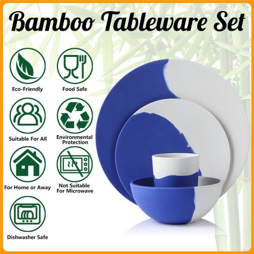 Lekoch® Harmony Series Bamboo Fiber Dinnerware Set for 2