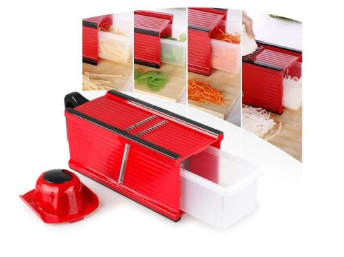 Lekoch 4-sided box slicer with protecting hand