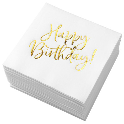 Lekoch Air-laid Disposables Paper Birthday Napkins 50PCS