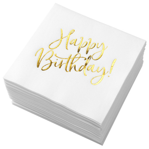 Lekoch Air-laid Disposables Paper Birthday Napkins 50PCS