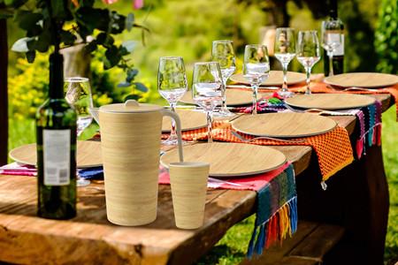 Bamboo fiber tableware