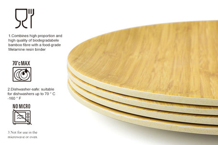 Bamboo fiber plates