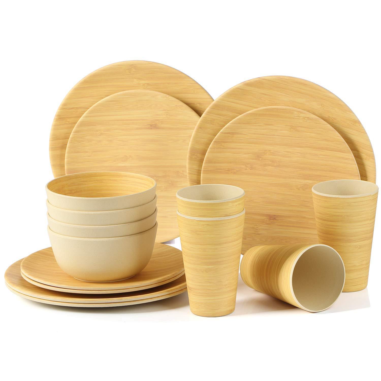 breath series bamboo fiber dinnerware