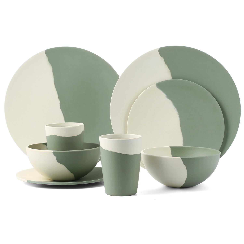 Harmony series bamboo fiber dinnerware