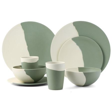 Lekoch® 8pcs Eco Friendly Bamboo Fiber Dinnerware Set for 2