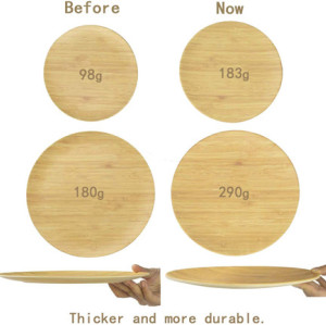 Lekoch® 16 Pieces Breath Series Wood Grain Bamboo Tableware Set for 4 people