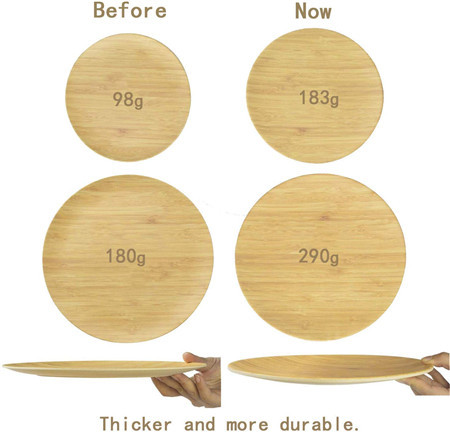 Lekoch® 16 Pieces Breath Series Wood Grain Bamboo Tableware Set for 4 people