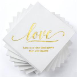 Lekoch Air-laid Disposables Paper with LOVE letter Napkins 50PCS