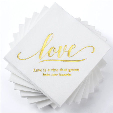 Lekoch Air-laid Disposables Paper with LOVE letter Napkins 50PCS