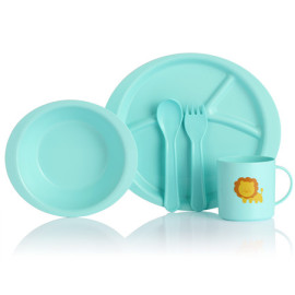 Lekoch biological kids blue baby dinnerware