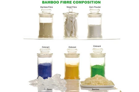 The law material of bamboo fiber plates