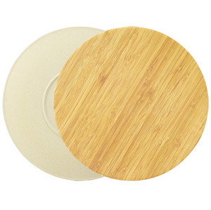 Lekoch Eco Friendly Bamboo Fiber Dinnerware Set Dinner Plates 4pcs