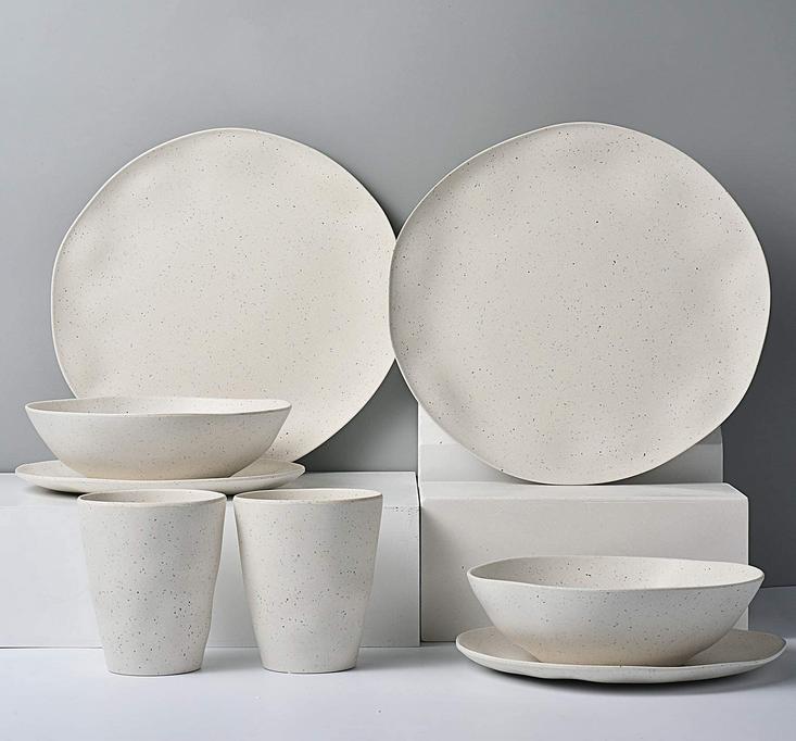 Lekcoch bamboo plates reusable
