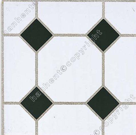 Negro blanco pvc pisos de baldosas