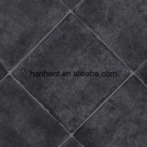 Gray geométrica acabado del pvc azulejo de suelo