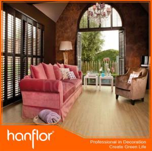 Precios más bajos de madera diseño piso de vinil
