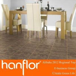 Respetuoso del medio ambiente del piso de madera del pvc azulejo para uso de la casa