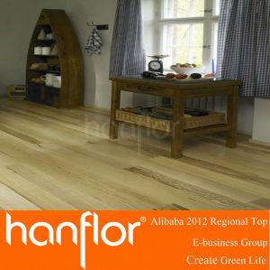 Mirada de madera con clic Lock respaldo suelo de PVC