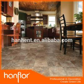 Alto brillo patrón de piedra madera look vinyl azulejos de suelo