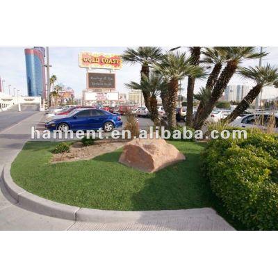Hermoso jardín de aspecto natural hierba