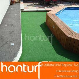 Antideslizante piscina cubierta de césped artificial