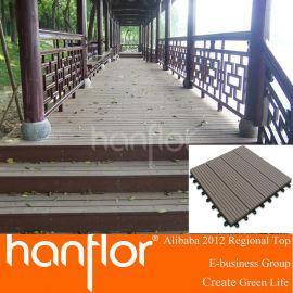 Zhejiang , China fábrica CE suelos de exterior sólido hueco de la viruta rígido de bolas WPC decking