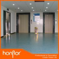 Faible bruit Barefoot convivial des performances durables hôpital ascenseur salle feuille de vinyle