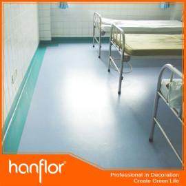 Antibacterial del hospital del piso de vinilo hoja