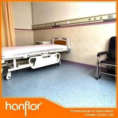 Vente chaude hôpital PVC éponge plancher revêtements intérieure rouleau 72