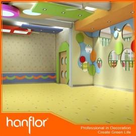 Barato gruesa pisos de vinilo rollo para Kindergarten y centro de educación temprana
