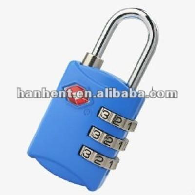 Tsa azul cerradura de combinación para el equipaje