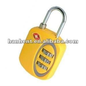 3 dígitos ABS amarillo combinación TSA bloqueo