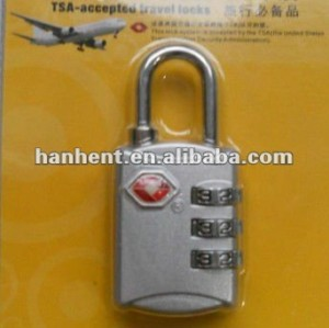 3 dígitos negro de aleación de zinc TSA bloqueo