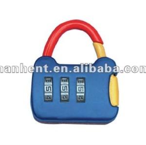 Mini aleación de zinc de 3 dígitos lindo equipaje de bloqueo