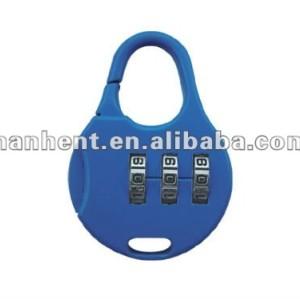Fácil uso 3 dígitos lindo equipaje de bloqueo