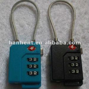 Tsa 3 dígitos ajustable cerradura de combinación