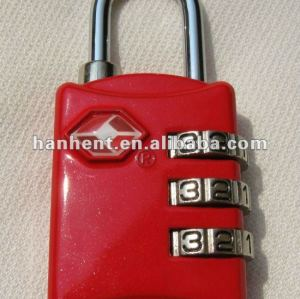 Tsa lindo y de seguridad cerradura de combinación
