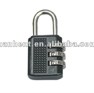 Negro 3 dial de seguridad cerradura de combinación