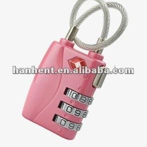 3 dígitos de color rosa de aleación de zinc TSA bloqueo
