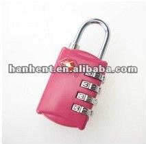 Sin llave de color rosa del equipaje cerradura de combinación