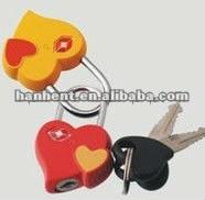 Tsa en forma de corazón TSA del equipaje de bloqueo con claves