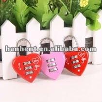 Del diseño del corazón de combinación de equipaje de bloqueo
