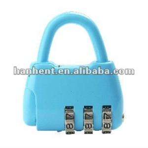 Señora como la forma del bolso 3 cerradura de combinación