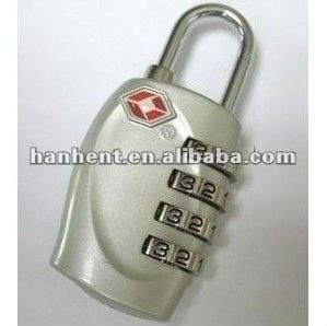 Tsa 330 de plata sin llave cerradura de combinación