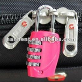 Tsa rosa mini tiempo de viaje del equipaje de bloqueo
