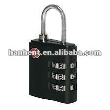 Tsa 3 dial de la combinación segura equipaje de bloqueo