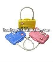 Bolsa en forma de 3 de dial cerradura de combinación