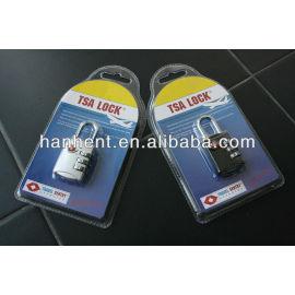 Tsa 3-dial combinación de equipaje de bloqueo