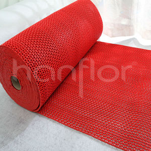 Pvc de goma tejida alfombra de baño